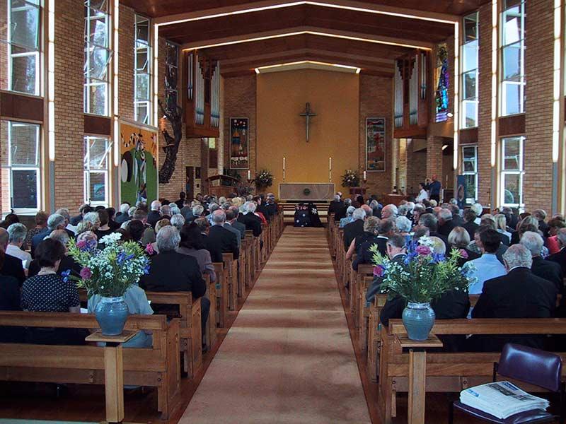 Max Simkin Funeral St Lucia Church