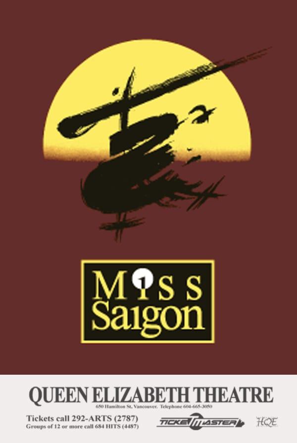 Miss Saigon Vancouver Poster