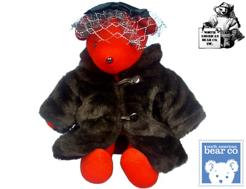 North American Bear Co Lauren Bearcall c. 1978 20 inch Red color from Washington D.C. USA