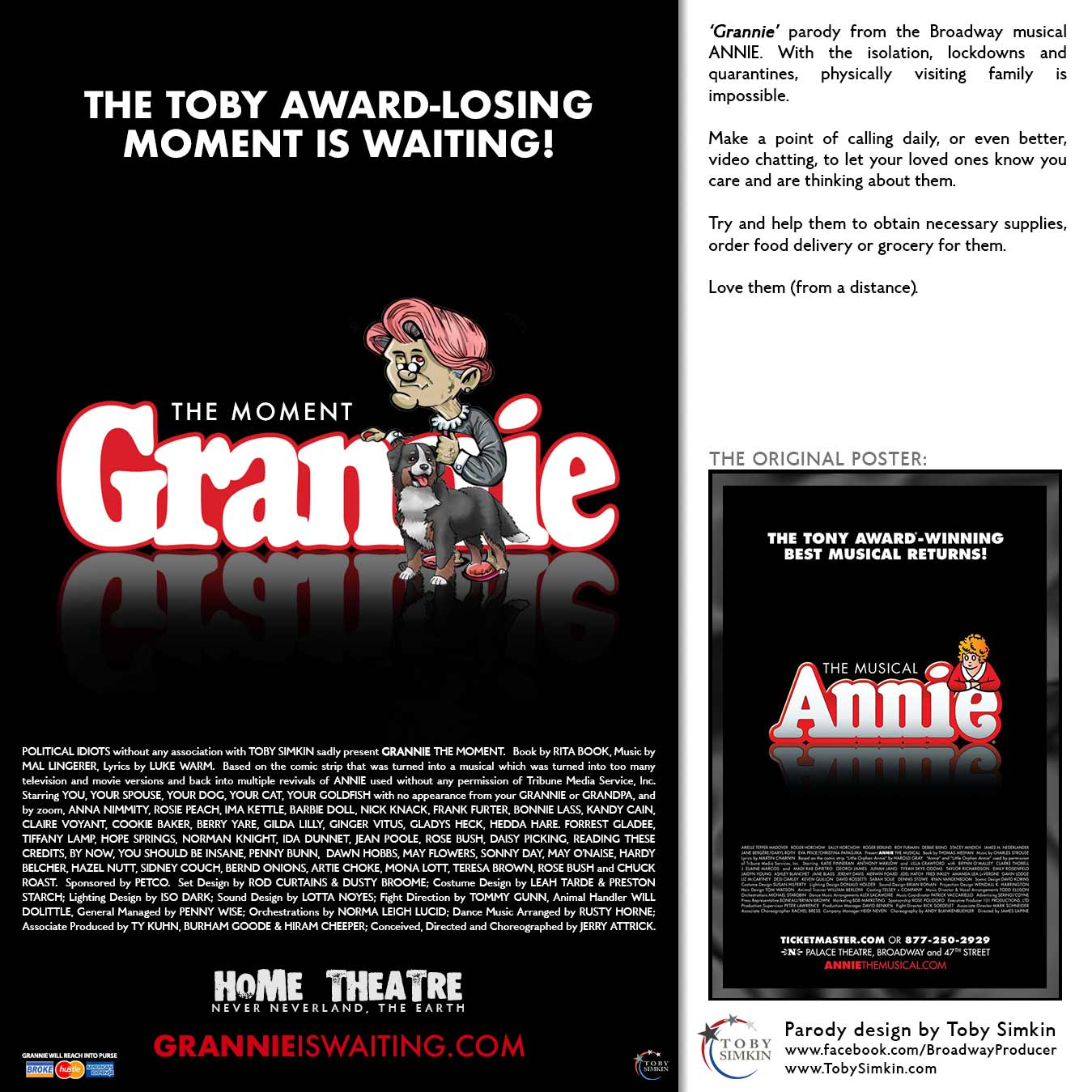 parody from the Broadway musical ANNIE.