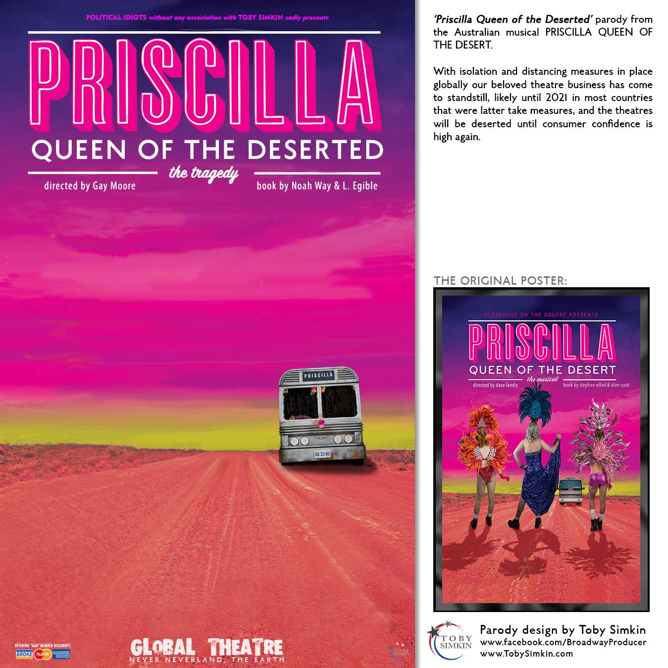 parody from the Australian musical PRISCILLA QUEEN OF THE DESERT