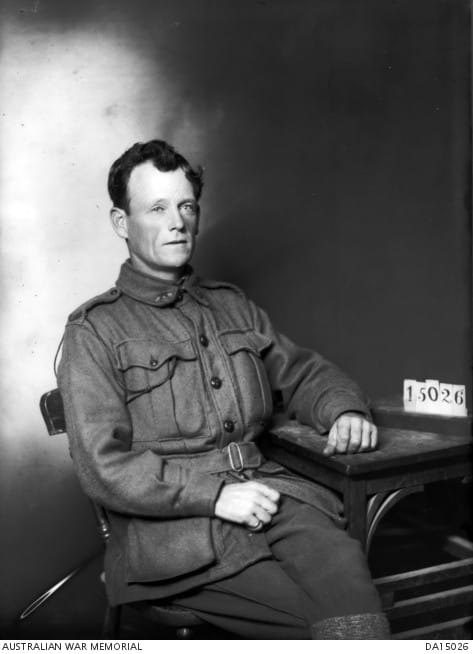 Private Henry Walter Simkin 58th Battalion 38yo hatter from Hawthorn when enlisted on 14 July 1915