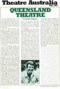 (TN Theatre Co Brisbane) [Press] Theatre Australia QLD theatre