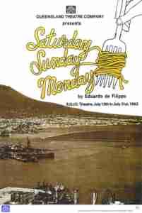 Saturday Sunday Monday (QTC Brisbane) [Program] Cover