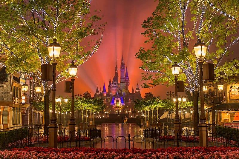 Shanghai Disney Shanghai Disney Resort Enchanted Storybook Castle Night