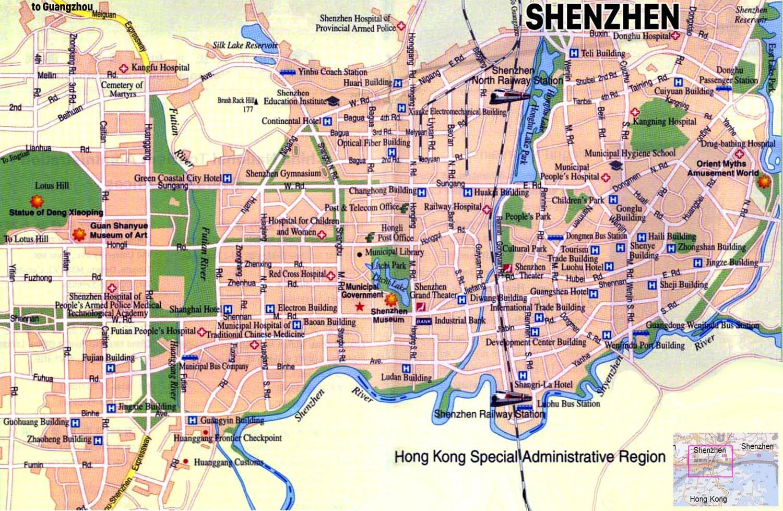Shenzhen Downtown Map English