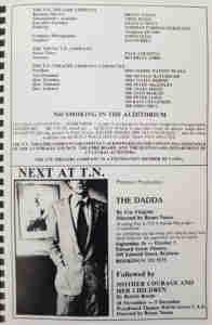 Starstud (1981 TN Theatre Co Brisbane) [Program] staff