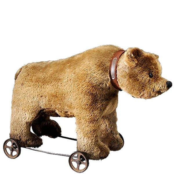 TL Steiff Bear on Wheels