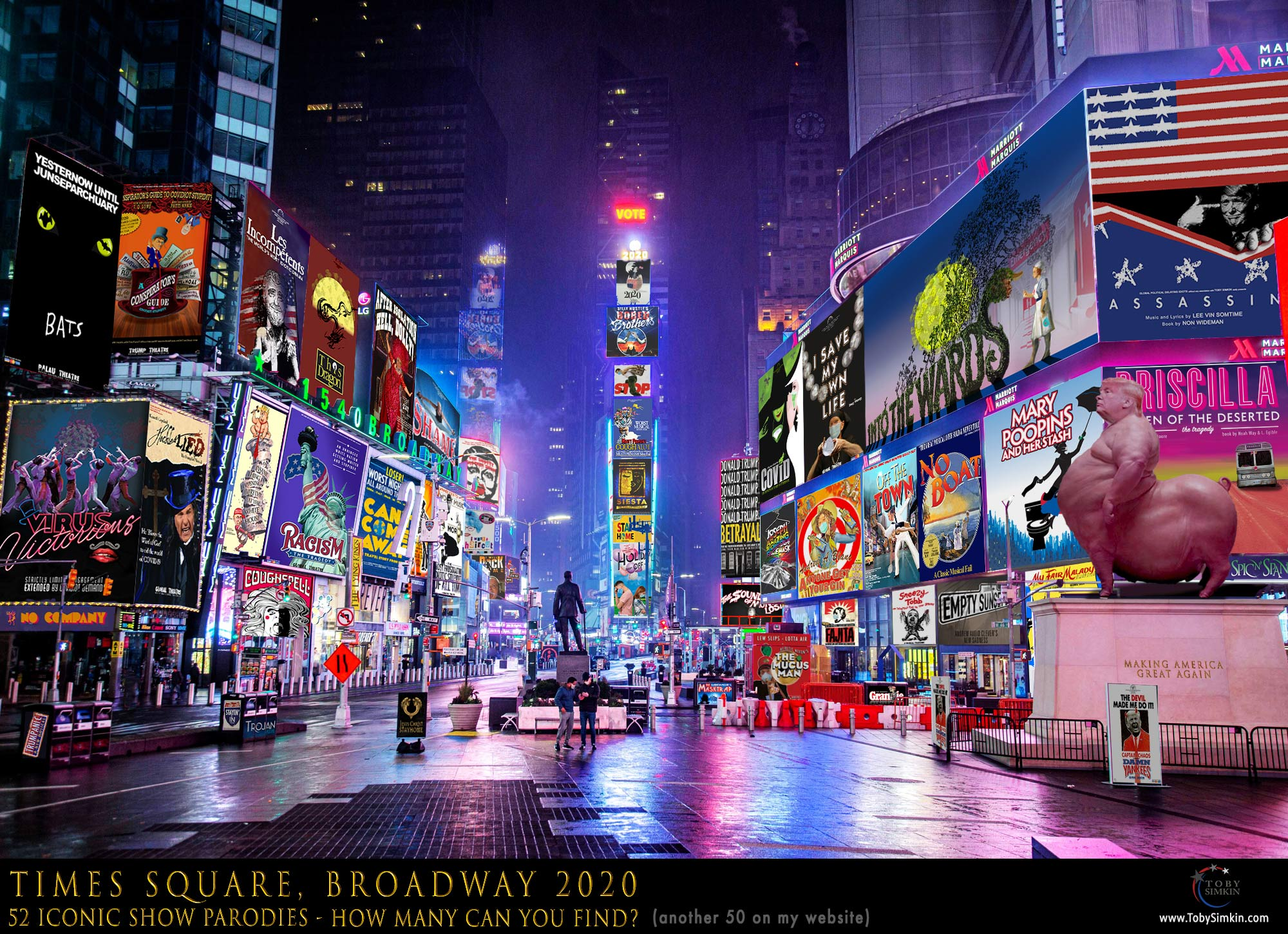 Broadway Billboards in 2020 Times Square VOTE Manhattan, New York City