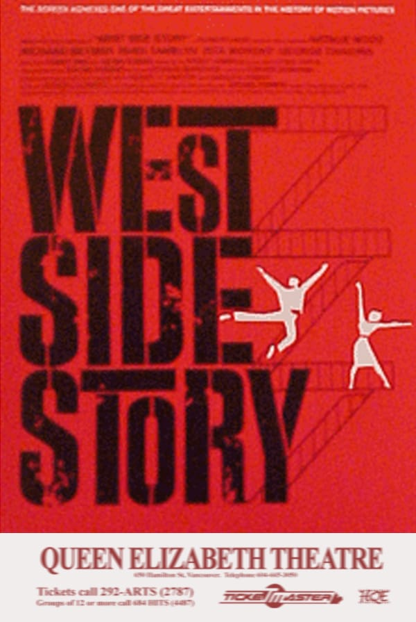 West Side Story Vancouver Poster