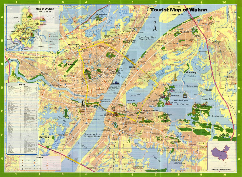 Wuhan Tourist Map