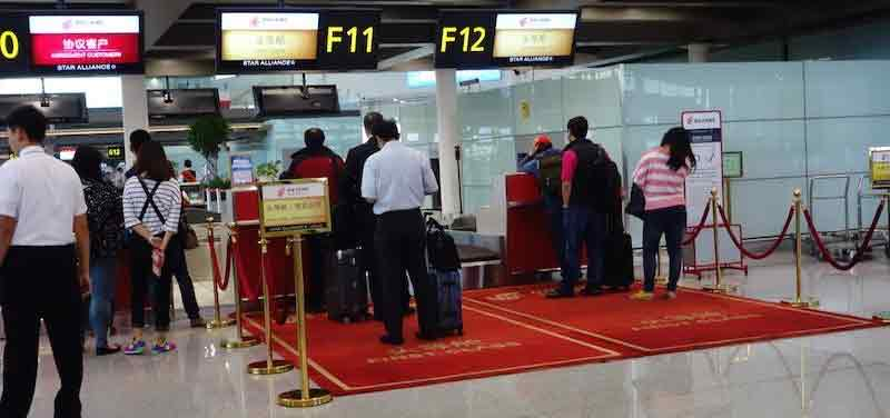 china guide airportdeparture firstclass
