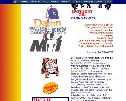 www.mti damnyankees.com